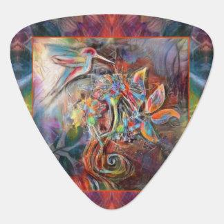 Hummingbird Flight Soft Pastels Art Guitar Pick