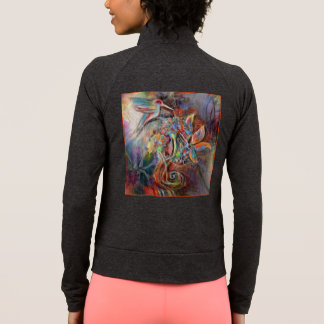 Hummingbird Flight Soft Pastels Art Jacket