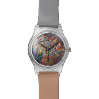 Hummingbird Flight Soft Pastels Art Watch
