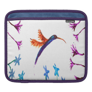 Hummingbird floral Art Sleeve For iPads