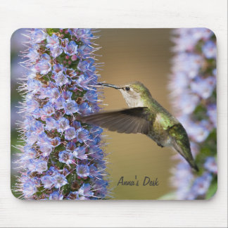 Hummingbird Flower Custom Mousepad