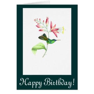 Hummingbird Flowers Birthday Card