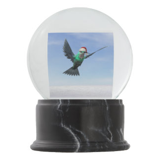 Hummingbird for christmas - 3D render Snow Globe