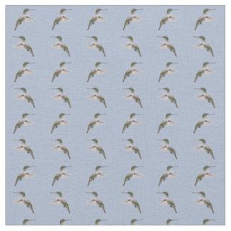 Hummingbird Frenzy Fabric (Light Blue)