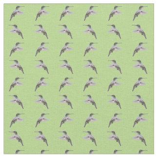 Hummingbird Frenzy Fabric (Light Green)