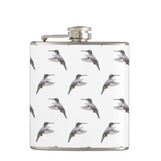 Hummingbird Frenzy Hip Flask (choose colour)