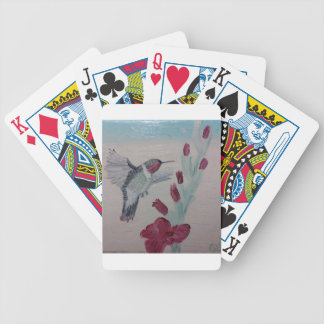 Hummingbird from Oil Painting 'Sweetness' Bicycle Playing Cards