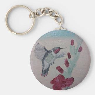 Hummingbird from Oil Painting 'Sweetness' Key Ring