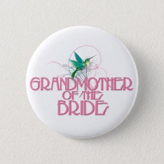 Hummingbird Grandmother of the Bride 6 Cm Round Badge