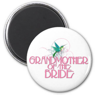 Hummingbird Grandmother of the Bride 6 Cm Round Magnet