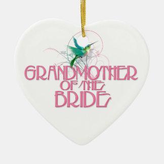Hummingbird Grandmother of the Bride Ceramic Ornament