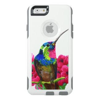Hummingbird hand drawing bright illustration. Neon OtterBox iPhone 6/6s Case