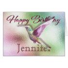 Hummingbird Happy Birthday Card