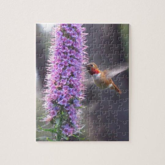 Hummingbird - happy jigsaw puzzle