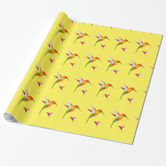 Hummingbird Haven Bright Gift Wrapping Paper