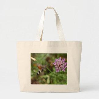 Hummingbird hawk-moth (Macroglossum stellatarum) Large Tote Bag