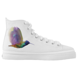 Hummingbird Hightop Shoes Printed Shoes