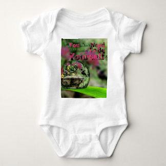 Hummingbird in dew drop Positive quote Baby Bodysuit