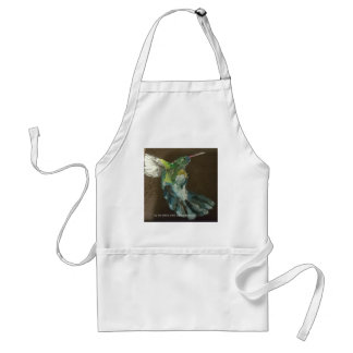 """Hummingbird in flight"" Standard Apron"