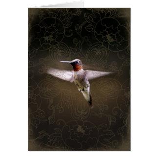 Hummingbird in Motion Greeting Card