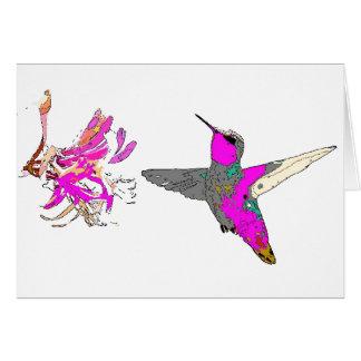 Hummingbird in Pink Card