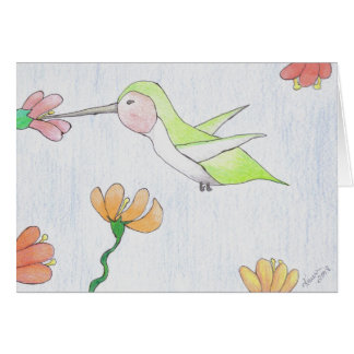 Hummingbird in the Flower Notecard