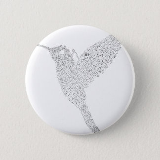 Hummingbird Jamming Out 6 Cm Round Badge