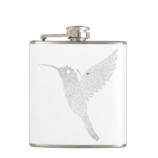Hummingbird Jamming Out Hip Flask