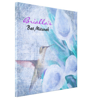 HUMMINGBIRD & LILY Bat Mitzvah Sign In Board