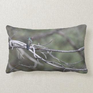 Hummingbird Lumbar Throw Pillow