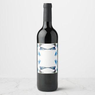 Hummingbird Mandala Border Wine Label