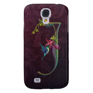 Hummingbird Monogram J Samsung Galaxy S4 Case