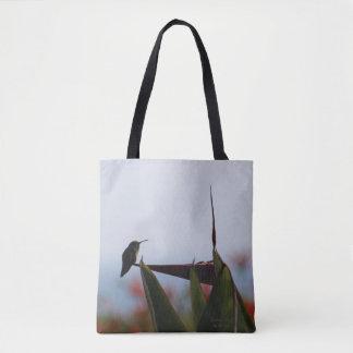 Hummingbird on Bird of Paradise Flower Tote Bag