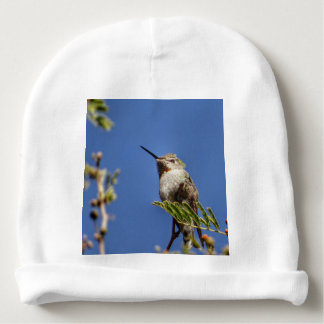 Hummingbird on Branch by SnapDaddy Baby Beanie