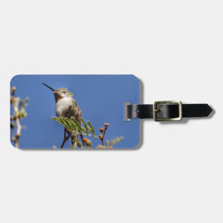 Hummingbird on Branch by SnapDaddy Luggage Tag