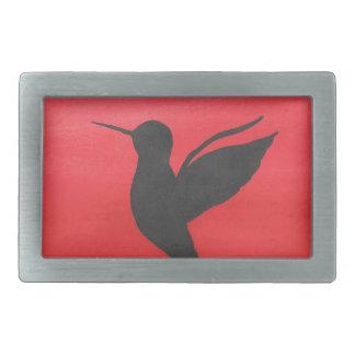 Hummingbird On Red Belt Buckle