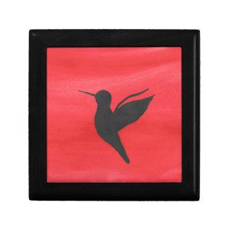 Hummingbird On Red Gift Box
