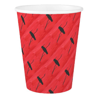Hummingbird On Red Paper Cup