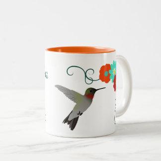 Hummingbird Personalised Two-Tone Coffee Mug