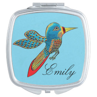 """Hummingbird"" Personalized Compact Mirror"