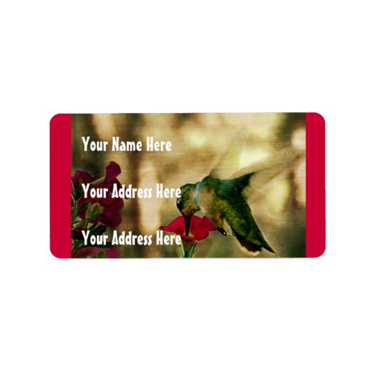 Hummingbird Photo Address Label