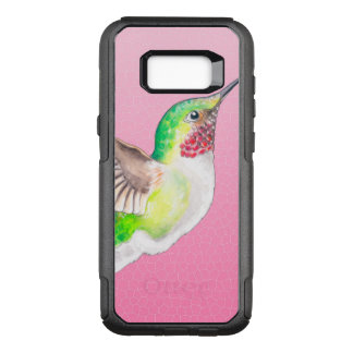 Hummingbird Pink Stained Glass OtterBox Commuter Samsung Galaxy S8+ Case
