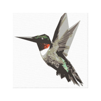 Hummingbird polygon art illustration canvas print