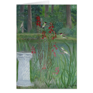 Hummingbird Pond Card