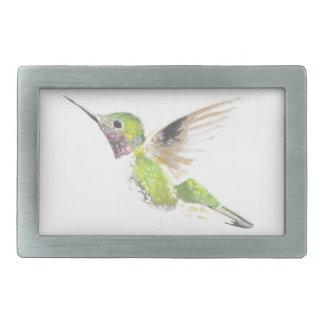 Hummingbird Rectangular Belt Buckle
