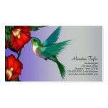 Hummingbird Red Hibiscus Teal Blue Purple Pack Of Standard Business Cards
