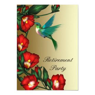 Hummingbird Red Hibiscus Womans Retirement Card
