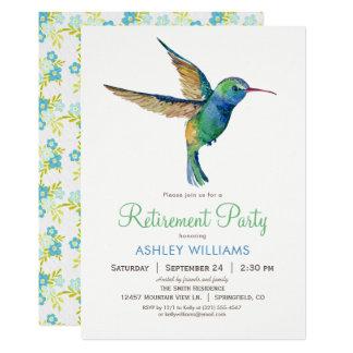 Hummingbird Retirement Party Invitation