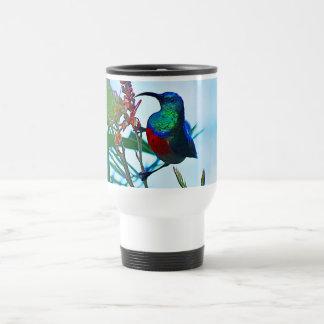 Hummingbird ruby throated stainless steel travel mug