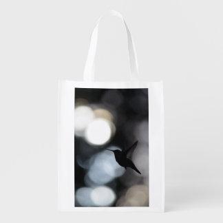 Hummingbird Silhouette Shopping Bag, Tote